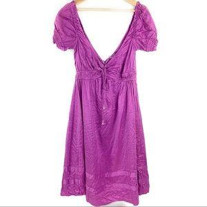 Calypso Maxi Silk Deep V Neck Dress